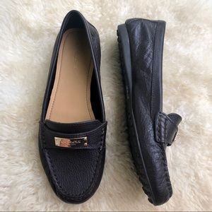 Coach mahogany brown Fredrica leather loafers